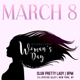 Women's Day Club Event Square (1:1) template