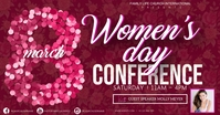 women's day conference event template Gedeelde afbeelding op Facebook
