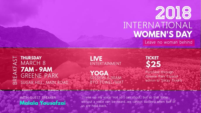 Women's Day Conference Facebook Cover Video