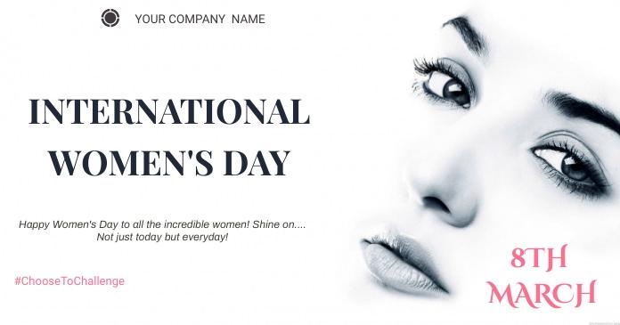 Women's day Изображение, которым поделились на Facebook template