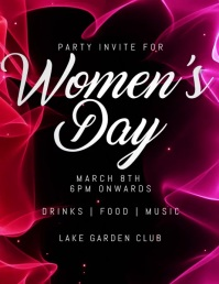 women's day Flyer (US Letter) template