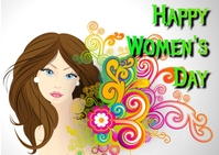 women's day Postcard template