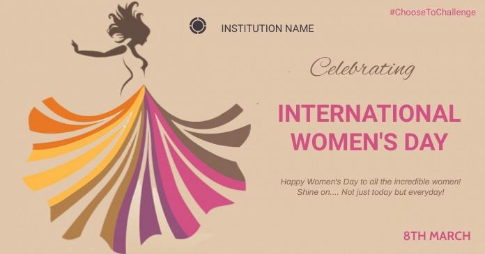 Women's day Obraz udostępniany na Facebooku template