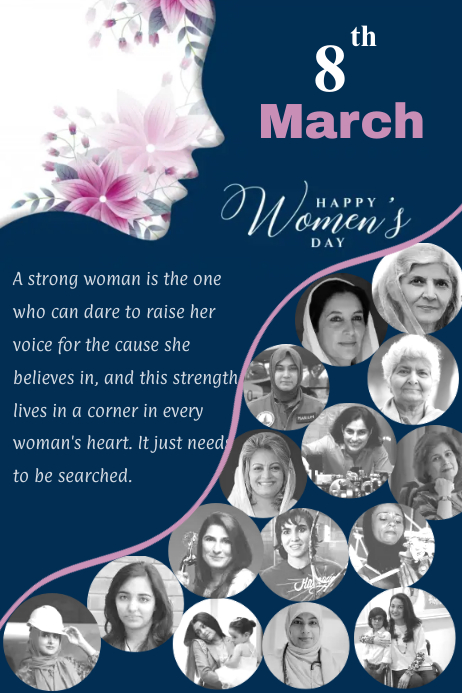 Women's Day Cartaz template