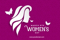 Women's day Plakat template