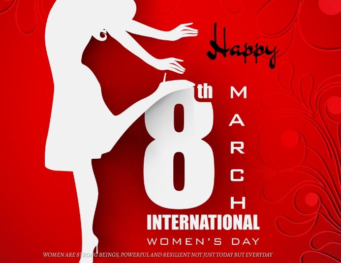 Women's Day 传单(美国信函) template
