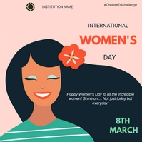 Women's day Quadrat (1:1) template