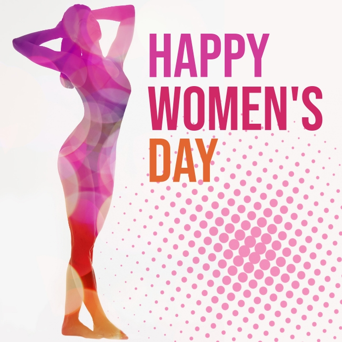 Women's day Instagram-opslag template