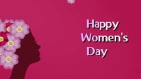 women's day Digital Display (16:9) template