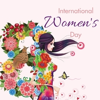 women's day Instagram 帖子 template
