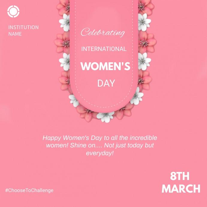 Women's day Kwadrat (1:1) template