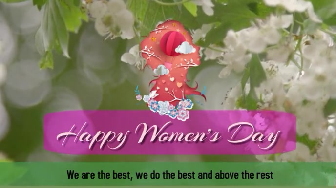 Women's Day Digital na Display (16:9) template