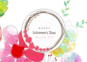 Women's day Cartolina template