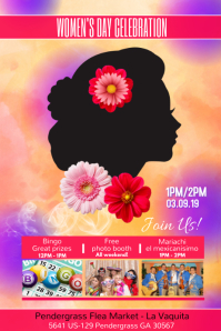 Women's Day Affiche template