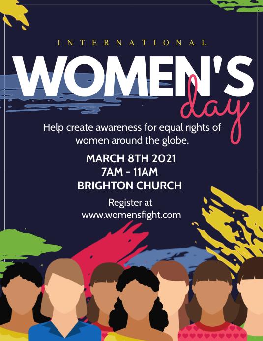 Women's day Folheto (US Letter) template