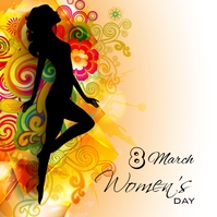 women's day Sampul Album template