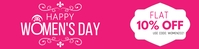 Women's Day Discount Coupon Banner Advertisem Cartel de 2 × 8 pulg. template