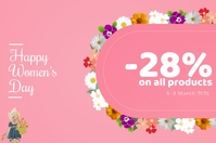 Women's Day Discount on all Products Ishidi elingu 4' × 6' template