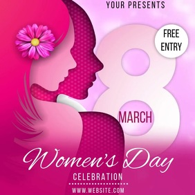 WOMEN'S DAY EVENT AD SOCIAL MEDIA TEMPLATE