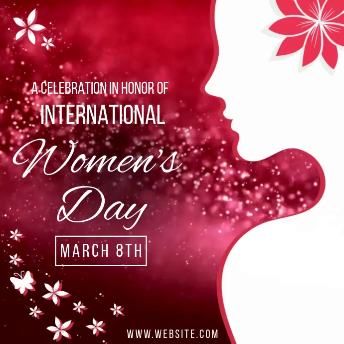 WOMEN'S DAY EVENT AD SOCIAL MEDIA TEMPLATE 徽标
