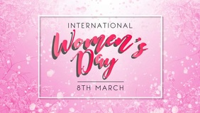 Women's Day Facebook Cover Template Facebook-covervideo (16:9)