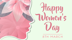 Women's Day Facebook Cover Template Facebook-omslagvideo (16: 9)