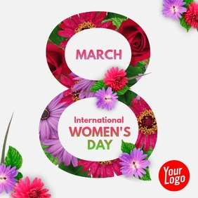 Women's Day Flower Animation Square Video Instagram Post template