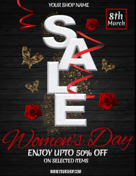 Women's Day Flyer, International Women's Day, Retail