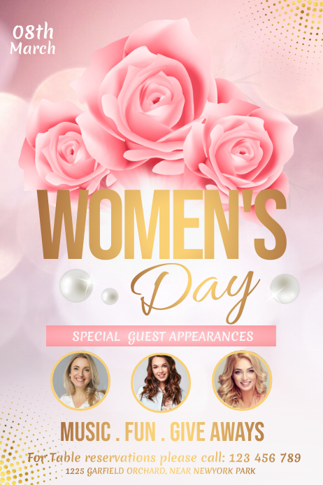 Women's Day Flyer, International Women's Day Plakkaat template