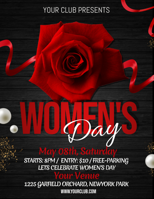 Women's Day Flyer, International Women's Day