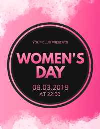Women's Day Flyer, International Women's Day template