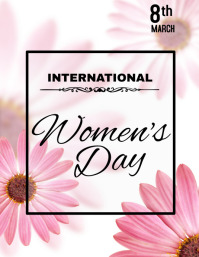 Women's Day Flyer, International Women's Day template