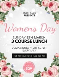 Women's Day Flyer, International Women's Day Folheto (US Letter) template