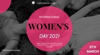 Women's day flyer Display digitale (16:9) template
