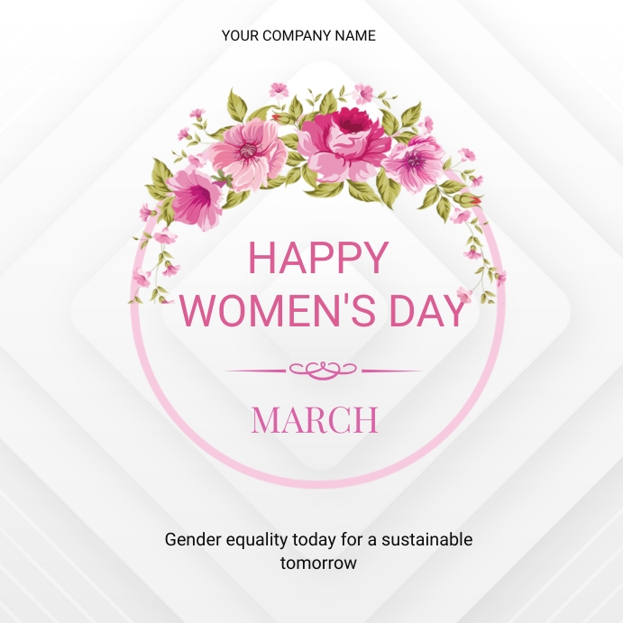 Women's day flyer Wpis na Instagrama template