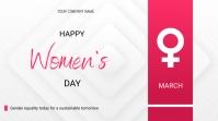 Women's day flyer Presentation (16:9) template