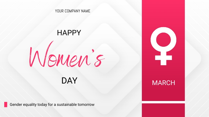Women's day flyer 演示(16:9) template