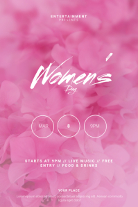 women's day Flyer Design Template