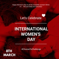 Women's day flyer Message Instagram template