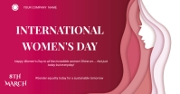 Women's day flyer Facebook 共享图片 template