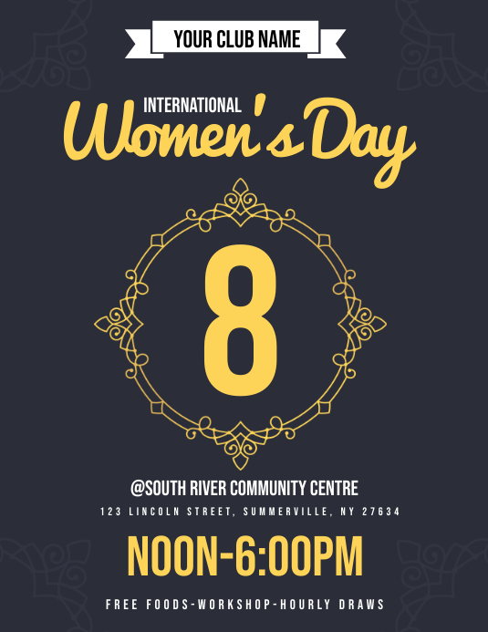 Women's Day Flyer Ulotka (US Letter) template