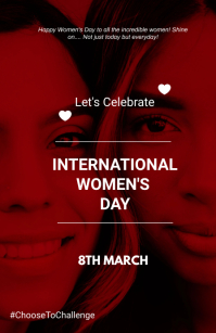 Women's day flyer Tabloid template
