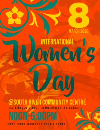 Women's Day Flyer template