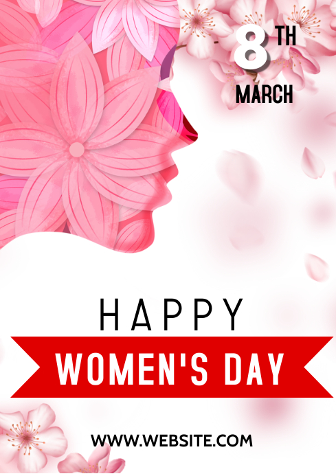 Women's Day flyer A3 template