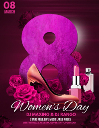women's day flyers,party flyers template