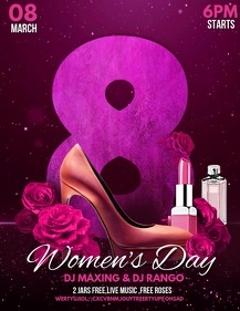 women's day flyers,party flyers