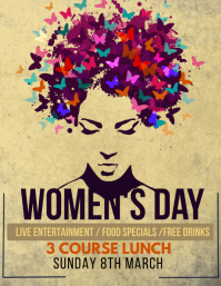 Women's day flyers template
