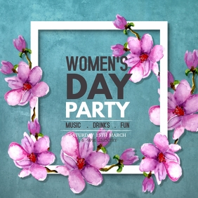 Women's day flyers Square (1:1) template