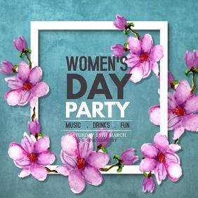Women's day flyers Kwadrat (1:1) template