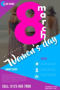 women's day flyers